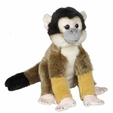 Pluche bruine doodshoofdaapje aap/apen knuffel 28 cm speelgoed