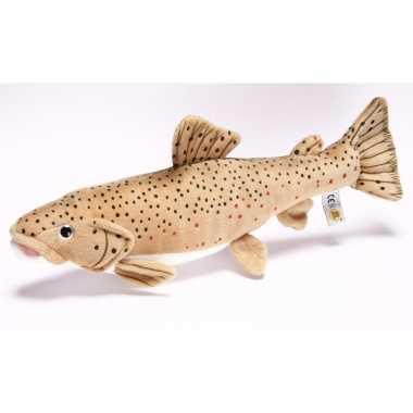 Pluche bruine forel vissen knuffel 43 cm