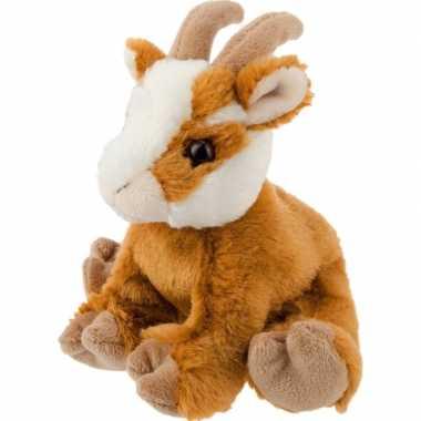 Pluche bruine geit knuffel 13 cm speelgoed