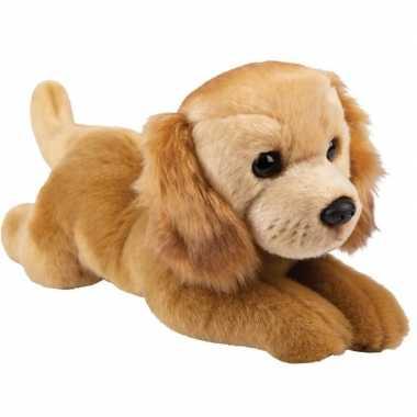 Pluche bruine golden retriever honden knuffel 30 cm speelgoed