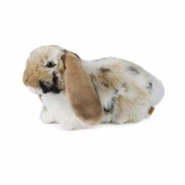 Pluche bruine hangoor konijn knuffel 30 cm speelgoed