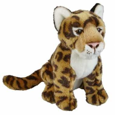 Pluche bruine jaguar/luipaard knuffel 28 cm speelgoed