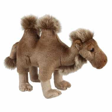 Pluche bruine kameel/kamelen knuffel 28 cm speelgoed