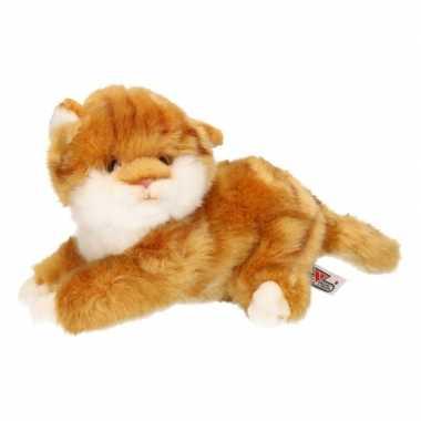 Pluche bruine kitten/poes knuffel 27 cm