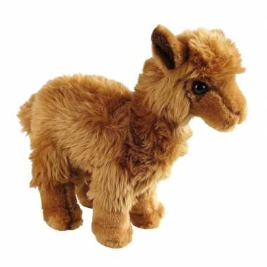 Pluche bruine lama/alpaca knuffel 24 cm