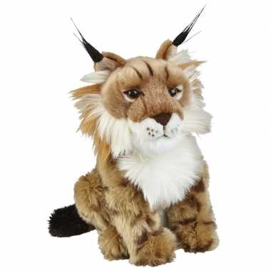 Pluche bruine lynx knuffel 28 cm speelgoed