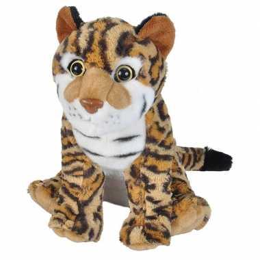 Pluche bruine ocelot/pardelkatten knuffel 35 cm speelgoed