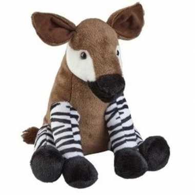 Pluche bruine okapi knuffel 30 cm speelgoed