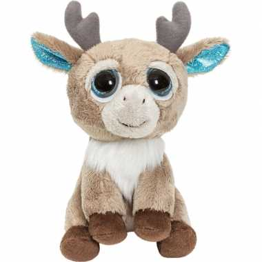 Pluche bruine rendier/eland knuffel 15 cm speelgoed
