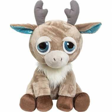 Pluche bruine rendier/eland knuffel 33 cm speelgoed