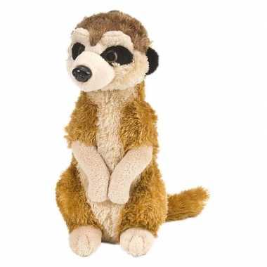 Pluche bruine stokstaartje knuffel 30 cm speelgoed