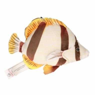 Pluche bruine tropische vis knuffel 21 cm