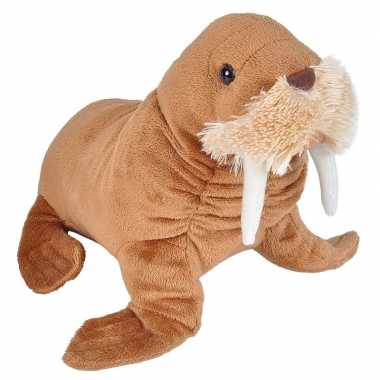 Pluche bruine walrus knuffel 25 cm speelgoed