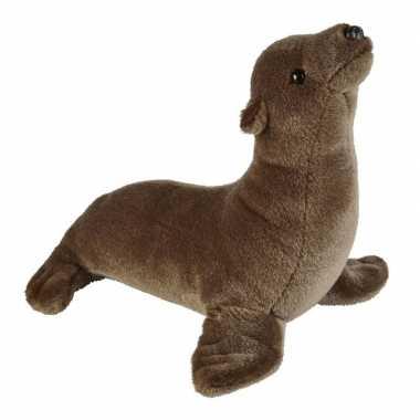 Pluche bruine zeeleeuw knuffel 37 cm speelgoed