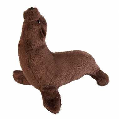 Pluche bruine zeeleeuw/zeeleeuwen knuffel 15 cm speelgoed