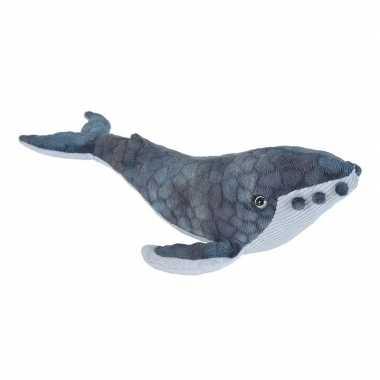 Pluche bultrug walvis knuffel 20 cm