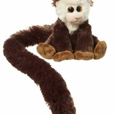 Pluche capucijneraapje knuffels 16 cm