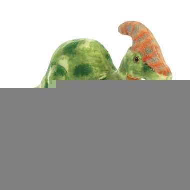Pluche dinosaurus knuffel parasaurolophus 35 cm