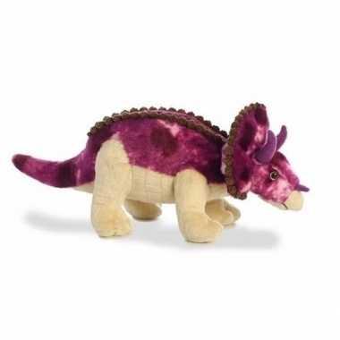 Pluche dinosaurus knuffel triceratops 33 cm