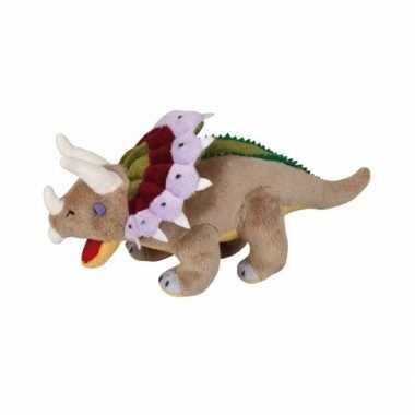 Pluche dinosaurus triceratops knuffel 30 cm