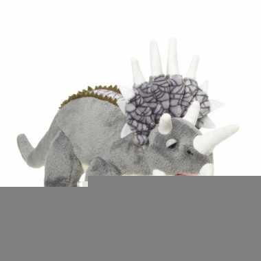 Pluche dinosaurussen triceratops knuffels 28 cm