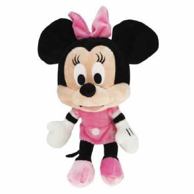 Pluche disney minnie mouse knuffel met roze jurk 50 cm speelgoed