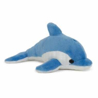 Pluche dolfijn knuffel blauw 20 cm speelgoed