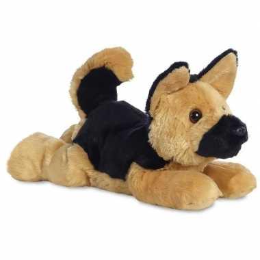 Pluche duitse herder honden knuffel 30 cm speelgoed