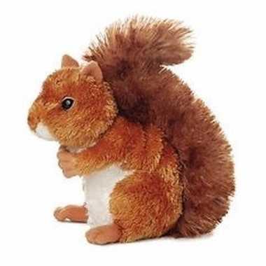 Pluche eekhoorn knuffel 20 cm