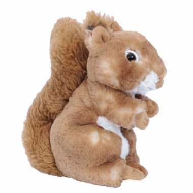 Pluche eekhoorn knuffel bruin 20 cm