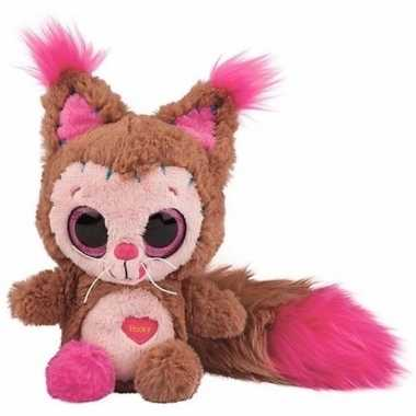 Pluche eekhoorn knuffel met geluid 23 cm