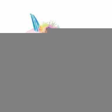 Pluche eenhoorn knuffel roze 34 cm