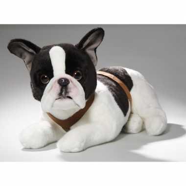 Pluche franse bulldog hond knuffel 50 cm