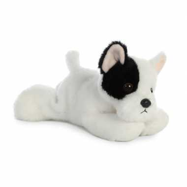 Pluche franse bulldog honden knuffel 20 cm speelgoed