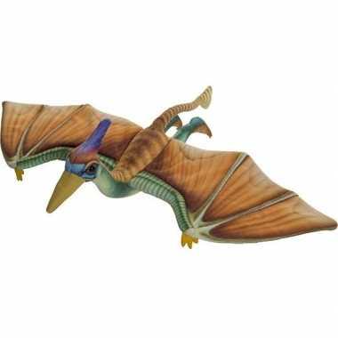 Pluche gekleurde pterosaurus dinosaurus knuffel 40 cm speelgoed