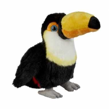 Pluche gekleurde toekan vogel knuffel 18 cm speelgoed
