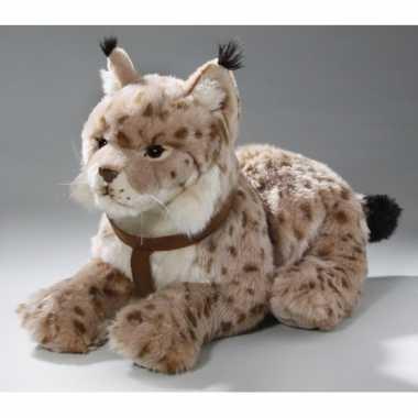 Pluche gestipte lynx knuffel 42 cm