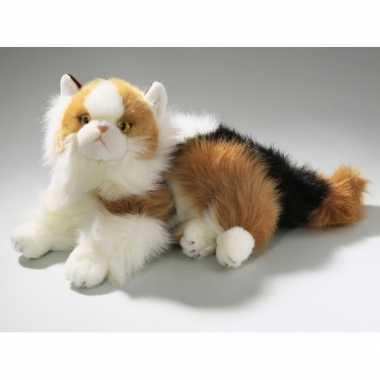 Pluche gevlekte katten knuffel 30 cm