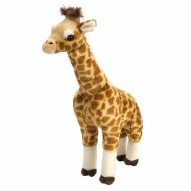 Pluche gevlekte staande giraffe knuffel 43 cm speelgoed