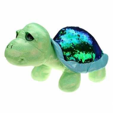 Pluche glitter schilpad knuffel 25 cm speelgoed