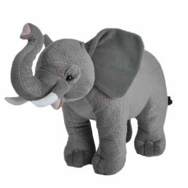 Pluche grijze arikaanse olifant knuffel 35 cm speelgoed