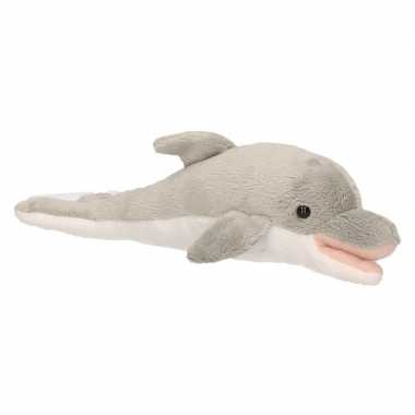 Pluche grijze dolfijn knuffel 26 cm speelgoed