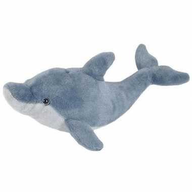 Pluche grijze dolfijn knuffel 55 cm speelgoed