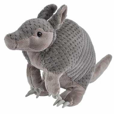 Pluche grijze gordeldier knuffel 35 cm speelgoed