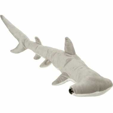 Pluche grijze hamerhaai knuffel 60 cm speelgoed