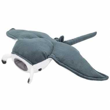 Pluche grijze mantarog knuffel 43 cm speelgoed