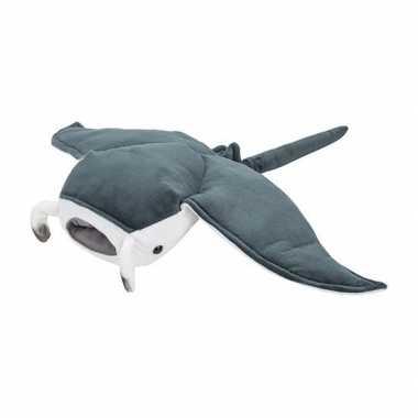 Pluche grijze mantarog knuffel 53 cm speelgoed
