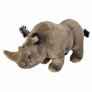 Pluche grijze neushoorn knuffel 35 cm speelgoed