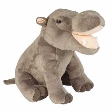 Pluche grijze nijlpaard knuffel 30 cm speelgoed
