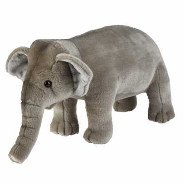 Pluche grijze olifant knuffel 28 cm speelgoed